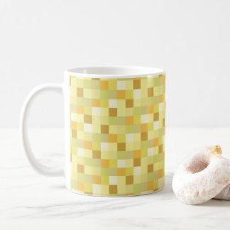 Gamer   Gold Pixelated Pattern   Yellow Pixels Coffee Mug