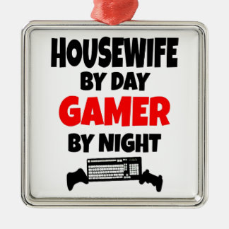 Gamer Housewife Metal Ornament