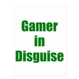 Gamer in Disguise Post Cards