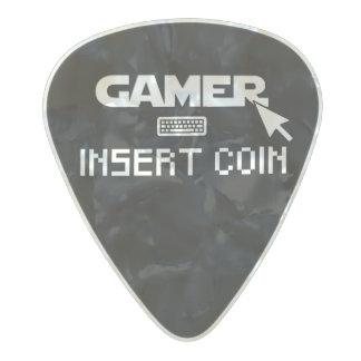 Gamer insert coin pearl celluloid guitar pick