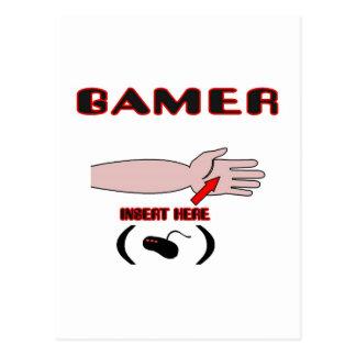 Gamer Insert Controller Here Postcard