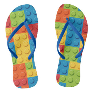 Gamer - Interlocking Bricks Flip Flops