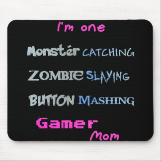 Gamer Mom (glittery text edition) Mouse Pad