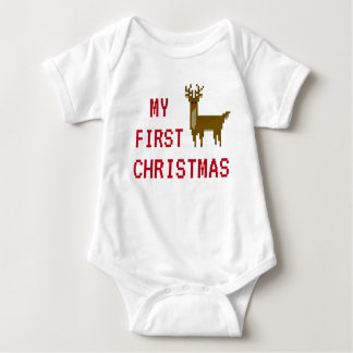 Gamer My First Christmas Rudolph Reindeer Bodysuit
