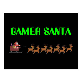 Gamer Père Noël Carte Postale