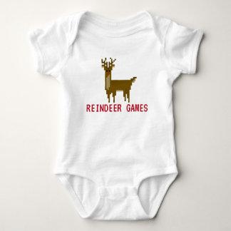 Gamer Pixel Rudolph Reindeer Games Bodysuit