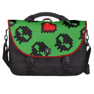 Gamer Pixel Skull and Heart Commuter Bags