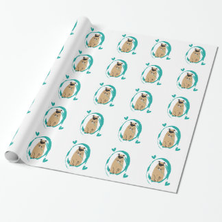 Gamer Pug Wrapping Paper