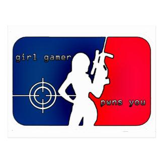 Gamer Pwns de fille vous ! Carte Postale