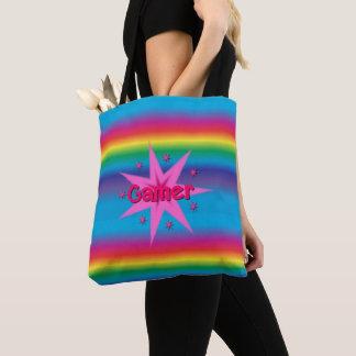 Gamer Rainbow & Stars Tote Bag