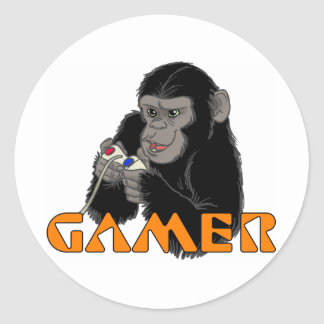 GAMER ROUND STICKER