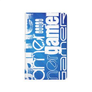 Gamer; Royal Blue Stripes Journals