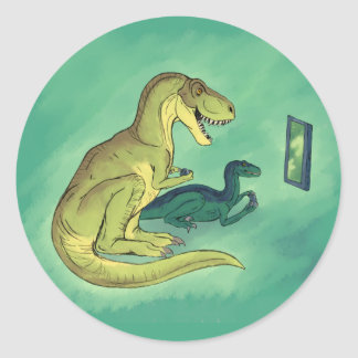 Gamer-Saurus Classic Round Sticker