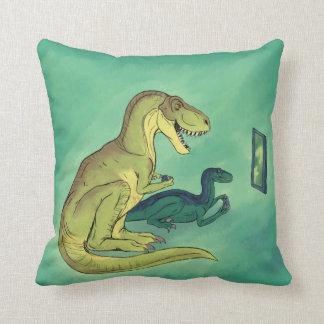 Gamer-Saurus Throw Pillow