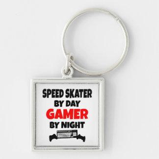 Gamer Speed Skater Keychain