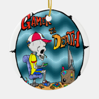 Gamer til Death Ceramic Ornament