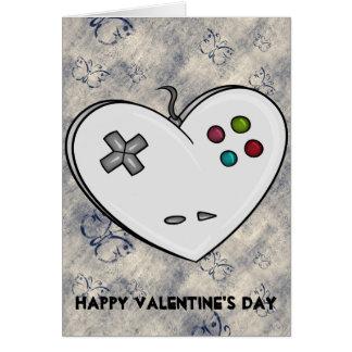 Gamer Valentine de coeur de contrôleur Carte De Vœux