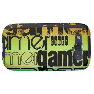 Gamer; Vibrant Green, Orange, & Yellow Samsung Galaxy S3 Covers