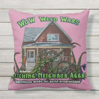 Gamer Weed Wars, Quest and Yard Work Throw Pillow