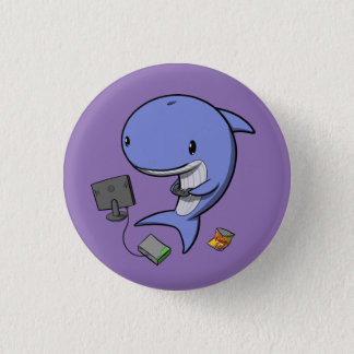 Gamer Whale 1 Inch Round Button