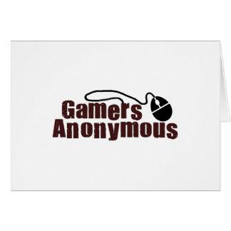 Gamers anonymes carte de vœux