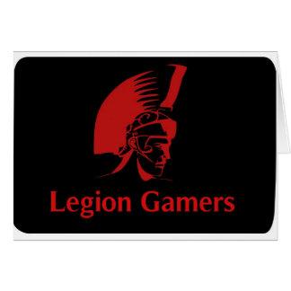 Gamers de légion carte de vœux