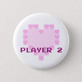Gamers in Love - Player 2 2 Inch Round Button