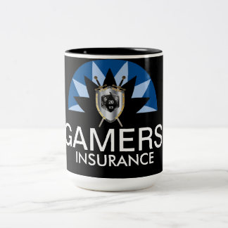 Gamers Insurance Two-Tone Coffee Mug