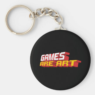 Games Are Art Keychain