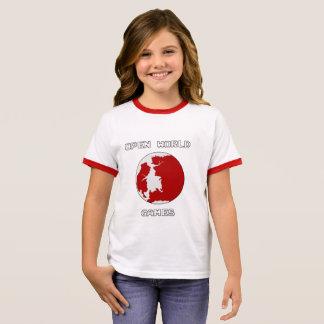 Games Girl's Ringer T-Shirt, White/Black Ringer T-Shirt