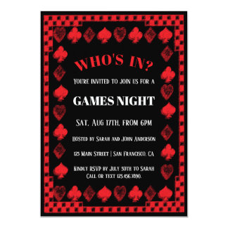 Games/Poker Night Invitations