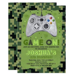 Gaming Birthday Invitation Video Game Birthday