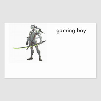 gaming boy sticker