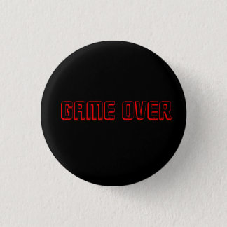 gaming button- game over 1 inch round button