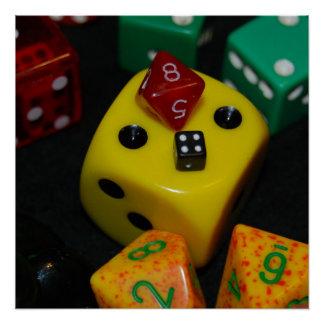 Gaming Dice Poster