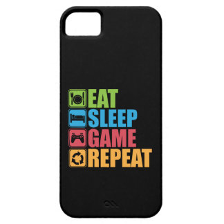 Gaming - Eat, Sleep, Game, Repeat - Gamer, Funny iPhone 5 Case