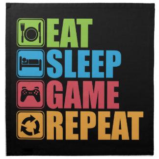 Gaming - Eat, Sleep, Game, Repeat - Gamer, Funny Napkin