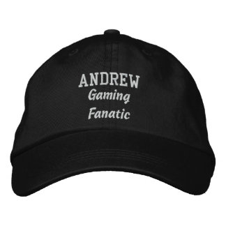 Gaming Fanatic Custom Name A01 Embroidered Baseball Caps