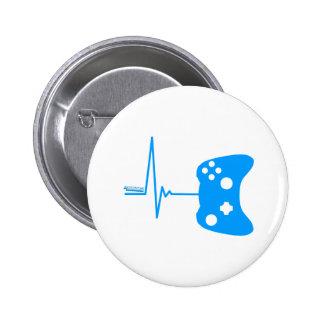 Gaming Heart Beat - gamer video games geek pad Buttons