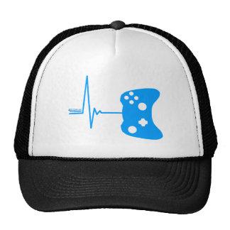 Gaming Heart Beat - gamer video games geek pad Hats