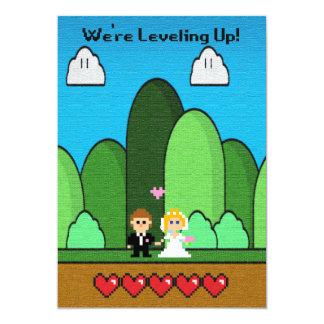 Gaming Level Up Wedding Invitations