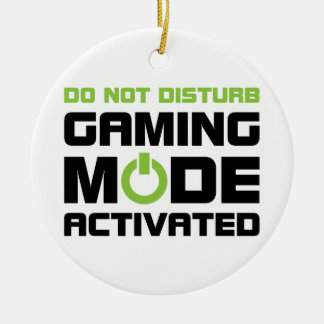 Gaming Mode Ceramic Ornament