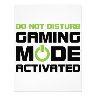 Gaming Mode Letterhead