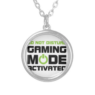 Gaming Mode Silver Plated Necklace