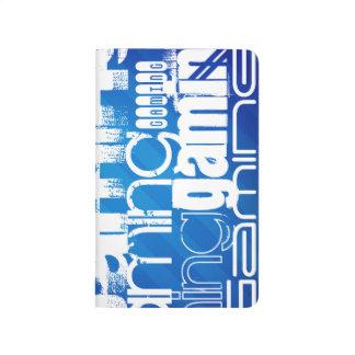 Gaming; Royal Blue Stripes Journal