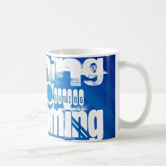 Gaming; Royal Blue Stripes Coffee Mug