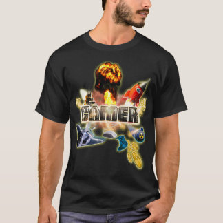 Gaming Shirt: Video Game Theme (Gamer At Work) T-Shirt