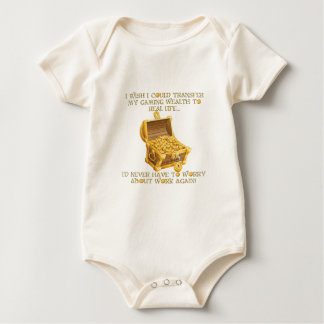 Gaming wealth baby bodysuit