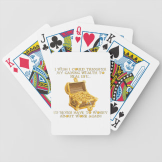 Gaming wealth bicycle playing cards