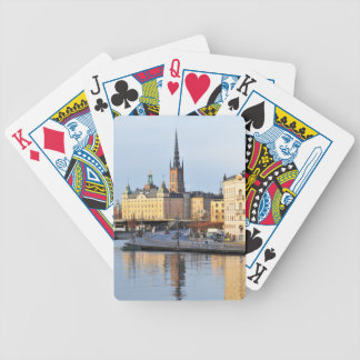 Gamla Stan in Stockholm, Sweden Bicycle Playing Cards